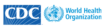 CDC and WHO logos